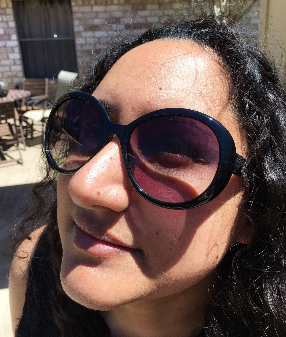 The Texas girl enjoying some Texas sun.