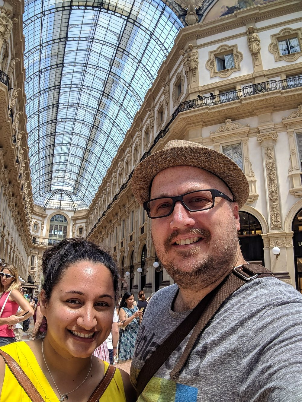 Mingling in Milan at the Galleria Vittorio Emanuele II