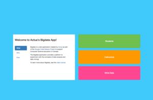 Actua's Big Data App