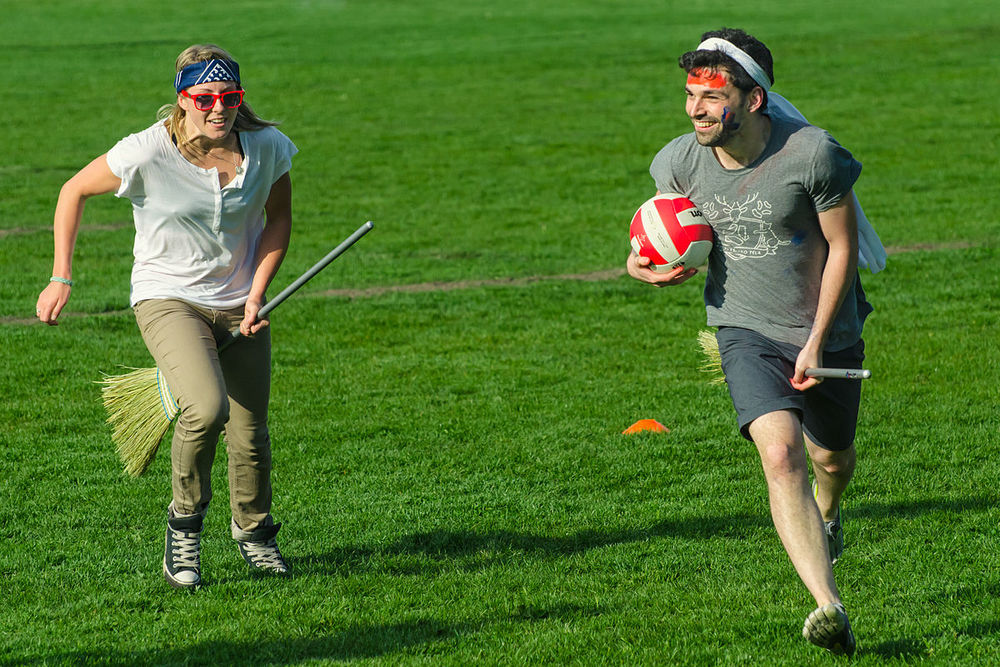 """ Muggle Quidditch Game in Vancouver 2 "" by  Anton Bielousov  is licensed under  CC BY-SA 3.0 ."