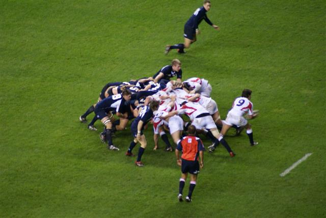 """"""" England vs. Scotland -3-2-07 - Calcutta Cup """" by  England Kath  is licensed under  CC BY2.0 ."""