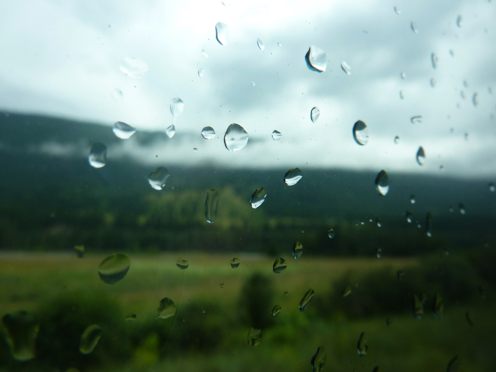 """ Rain on the window of the Rocky Mountaineer "" by  Andrew Bowden  is licensed under  CC BY-SA 2.0 ."