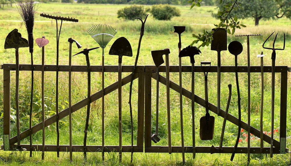 """"""" Gardening Tools... """" by  HOerwin56  is  Public Domain ."""