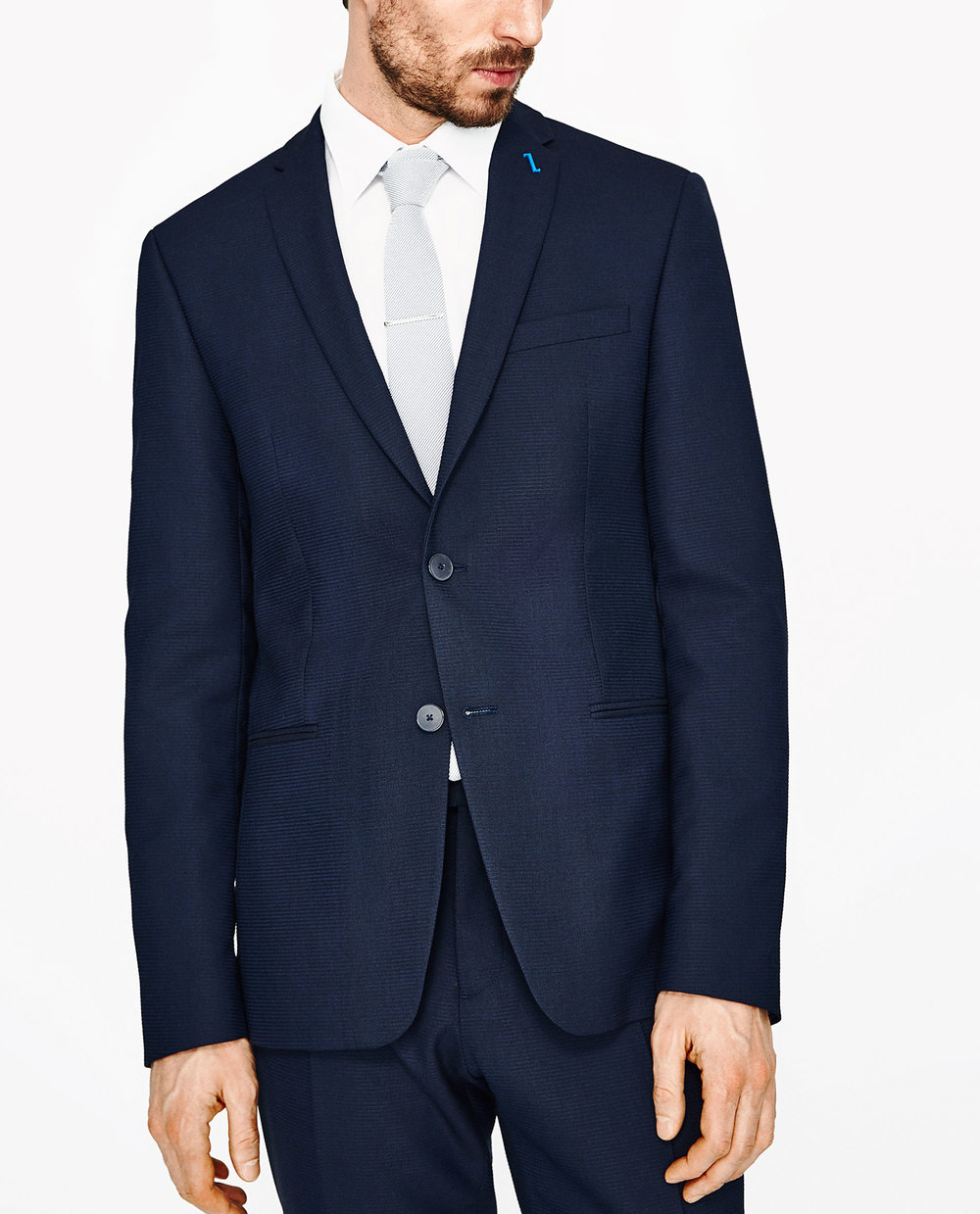 1.) $249.90  Zara - Horizontal Stripe Suit