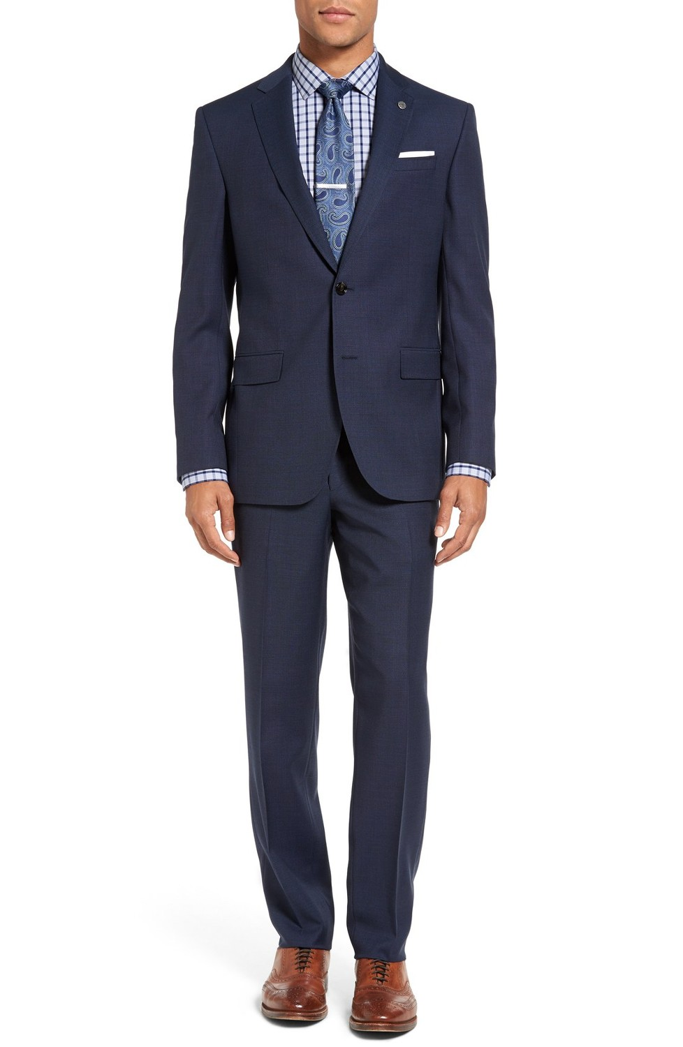 3.) $695  Ted Baker London - Jay Trim Fit Solid Wool Suit