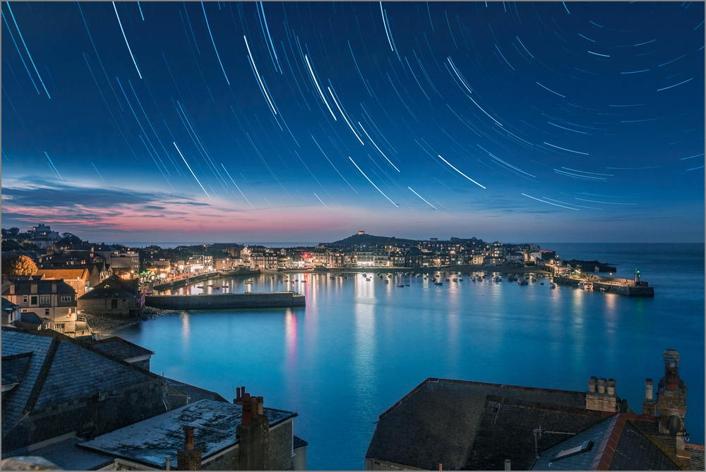 Star Trail over St Ives Resized.jpg