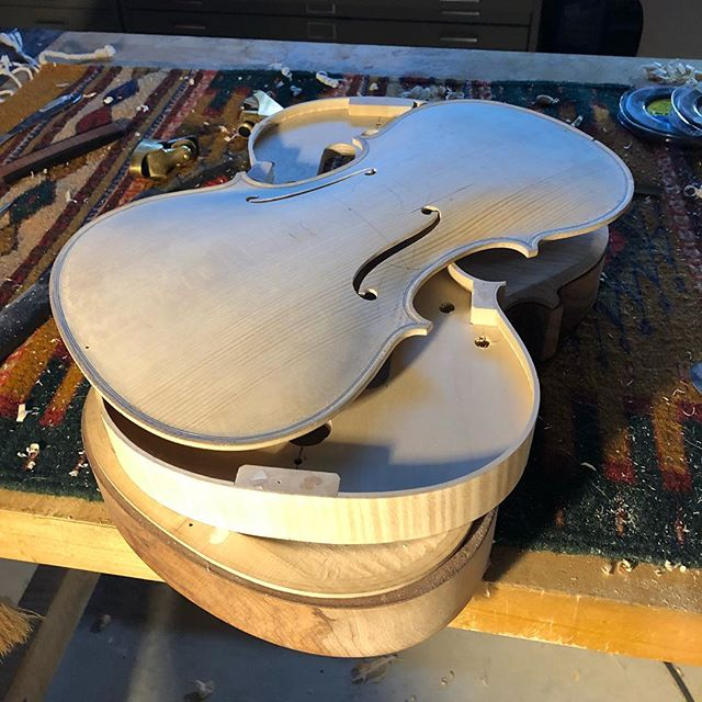I love nights like these. Getting close to assembly on this viola.