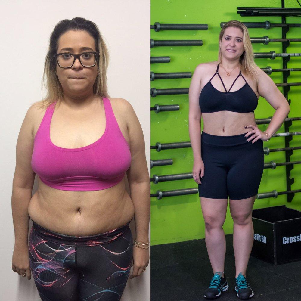 Aline, vencedora do último programa da CFP9 de 30 dias que envolve treinos e alimentação saudável.