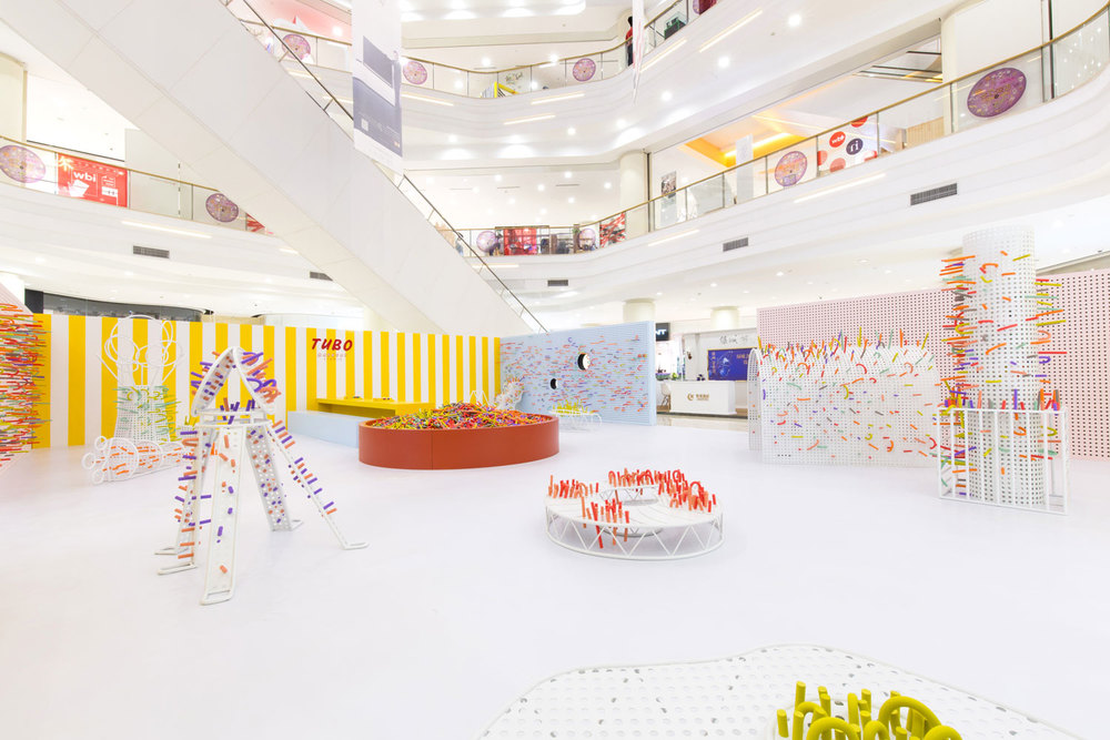 Photo of the space after a few hours with the children