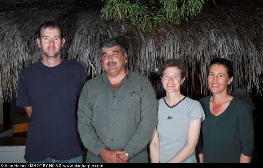 Ornithology team members, Rancho Cacachilas, Mexico