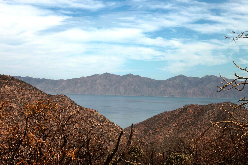 The view over Isla Cerralvo from Rancho Cacachilas, BCS, Mexico.