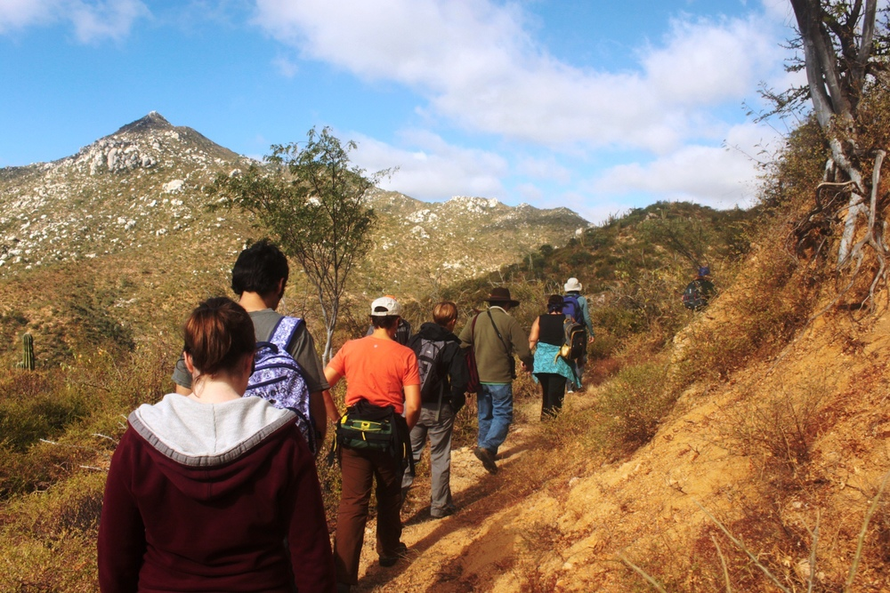 Annual hike on Rancho Cacachilas with community members from La Paz and elsewhere.