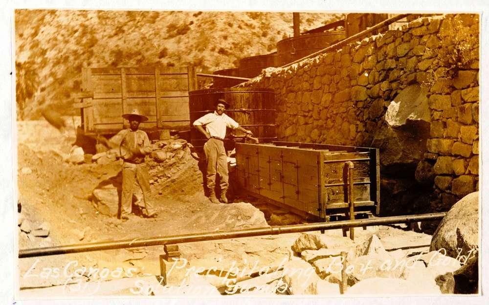 Mineros hace más de un siglo en la Sierra Cacachilas. *