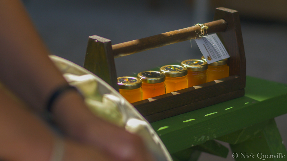 Row of Honey Jars Outside.jpg