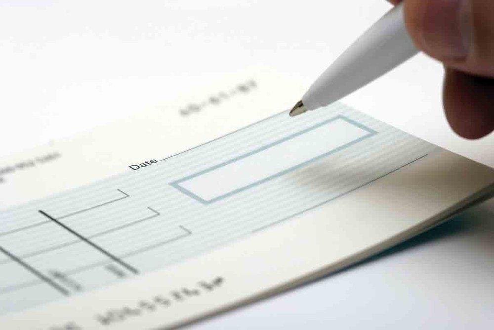 Cheques - Gira tus cheques a nombre de Casa de la Música