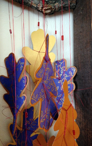 Oak Reinvented: Paper Becomes Tree, Blue, detail