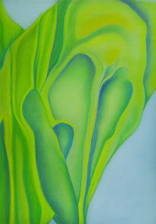 Crazy Greens, pastel on paper