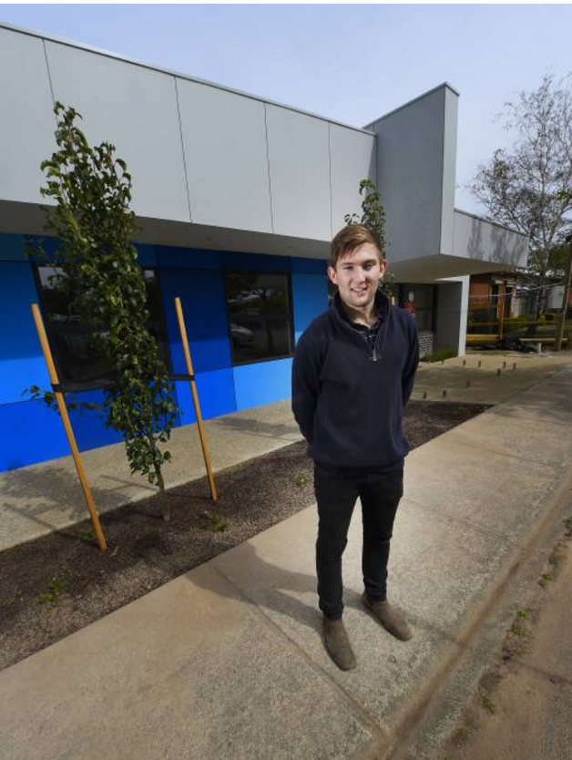 STATE-OF-THE-ART: Q Construction's Jock Coutts at the new child care centre, Bluebird Soldiers Hill, in Howitt Street. Picture: Luka Kauzlaric