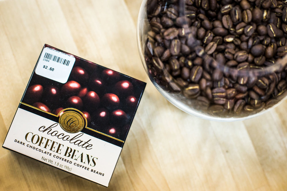 A delicious treat for the coffee lover with a sweet tooth, chocolate covered coffee beans.