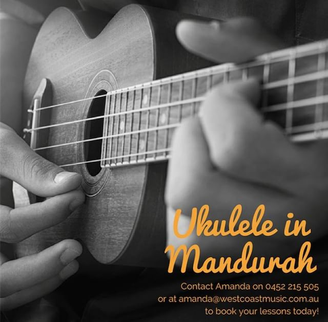 UKULELE IN MANDURAH!  Our Mandurah studio is very happy to announce that we can now offer Ukulele Lessons! We have had so many enquiries already, so make sure to get in quick to secure your weekly lesson time!  To book your place, just head to https://www.westcoastmusic.com.au/enquiry or call Amanda on 0452 215 505