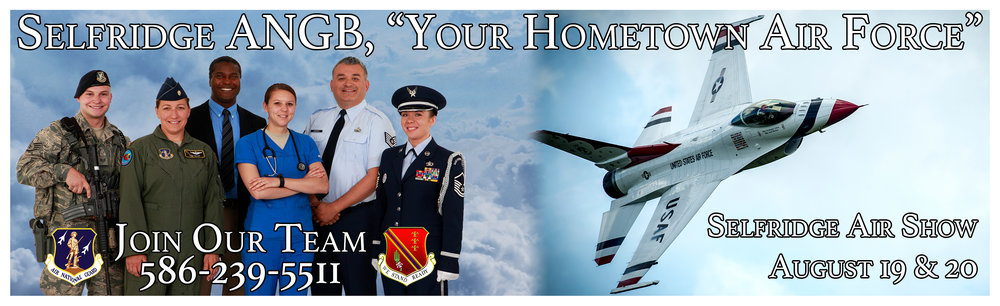 Billboard designed for the 127th Wing of Selfridge ANGB