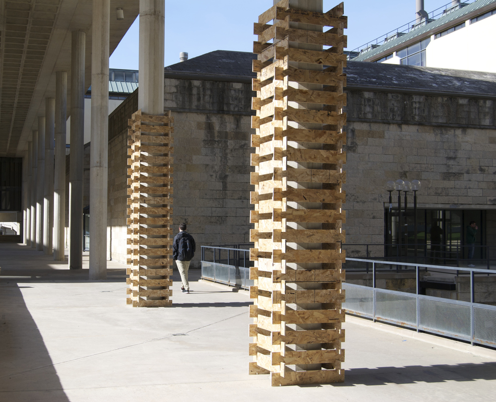 Pillar  2014 Oriented Strand Board Dimensions Variable  Shown at 14' Height