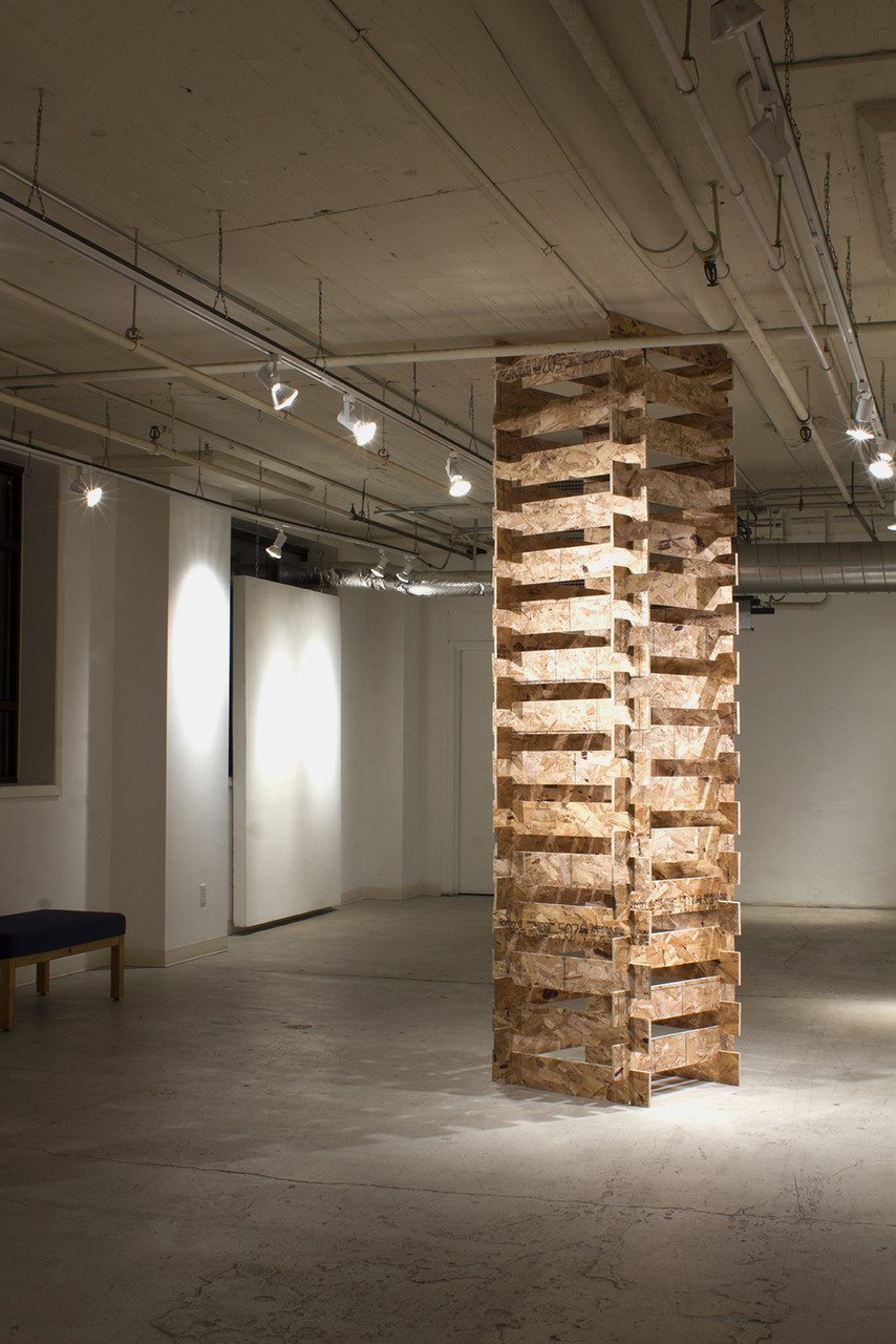 Pillar  2014 Oriented Strand Board Dimensions Variable  Shown at 9' Height