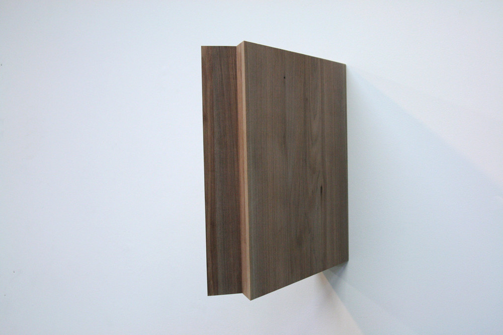 "Untitled,  2013 Walnut   30""x 25"" x 8"""
