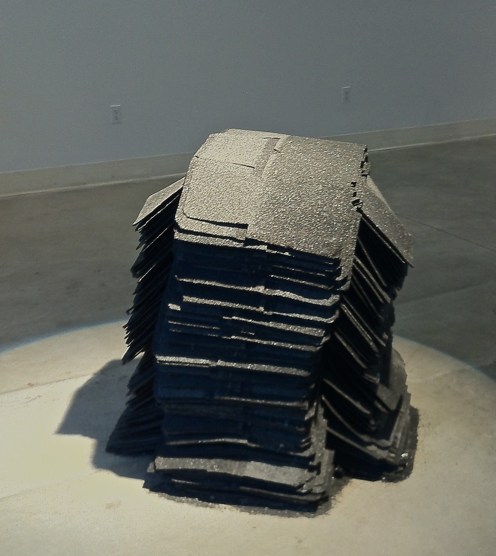 Untitled,   2014    Roofing Shingles  Dimensions Variable