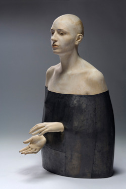darksilenceinsuburbia :       Bruno Walpoth  .  Melodia trattenuta. Lead sculpture, 88 cm.