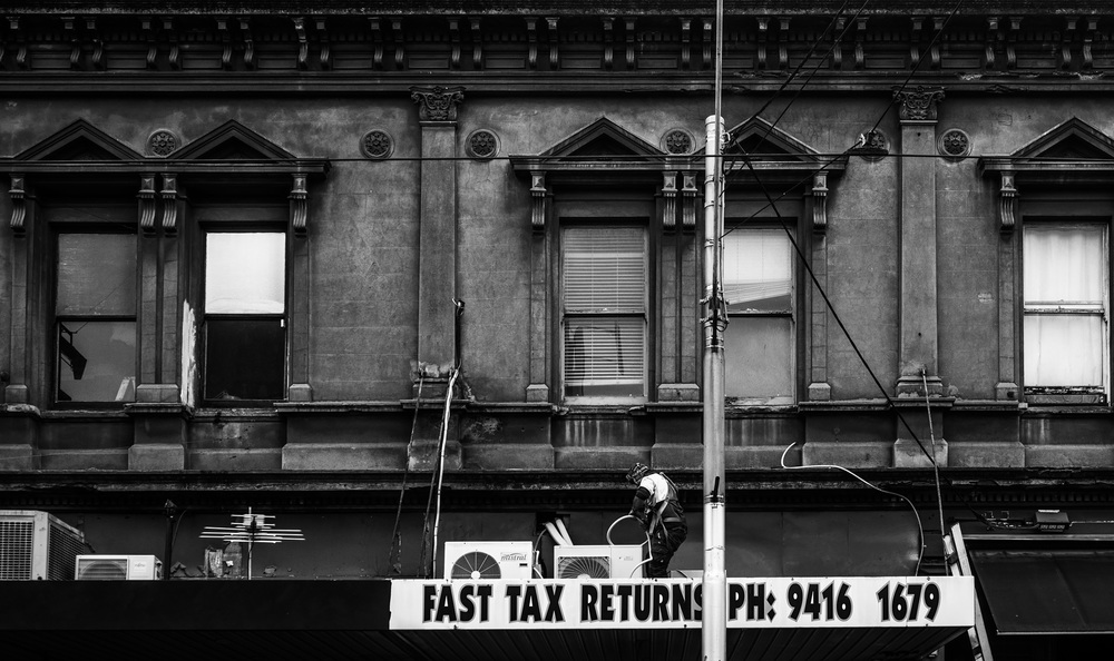 Workmen on Smith Street. Melbourne © Daniel Purvis 2016