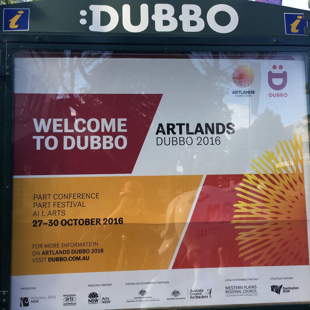 Lisa has just returned from Dubbo, NSW where she attended the Artlands conference. Artlands was a four day event with a regional arts focus, featuring inspiring speakers from across Australia and abroad. This opportunity was made possible through an Arts NSW Bursary.