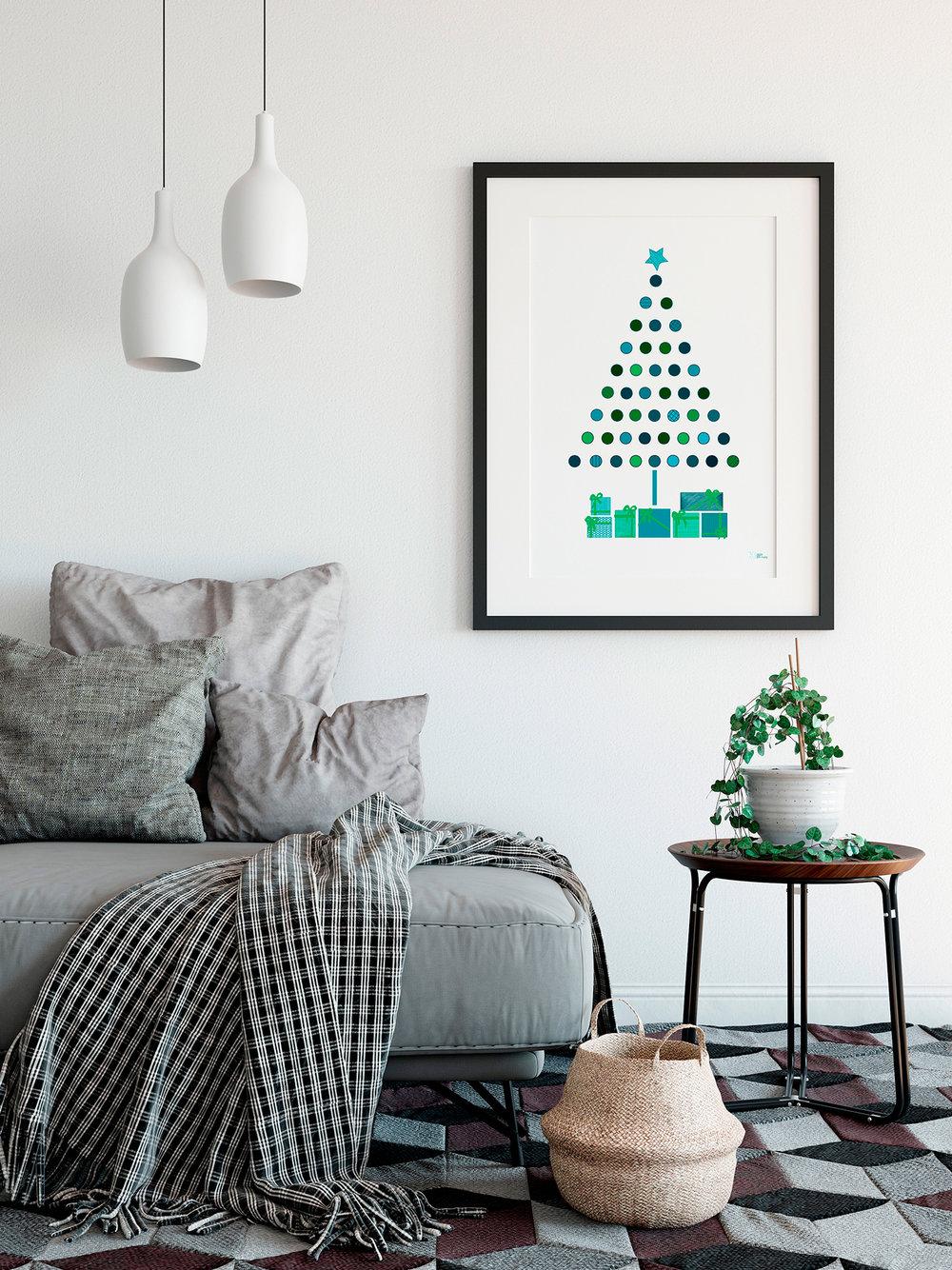 Esta lámina enmarcada aquí pertenece a nuestra colección de  Láminas de Navidad 2017 . Entra en la  Tienda de Láminas de The House y déjate sorprender por sus colores!