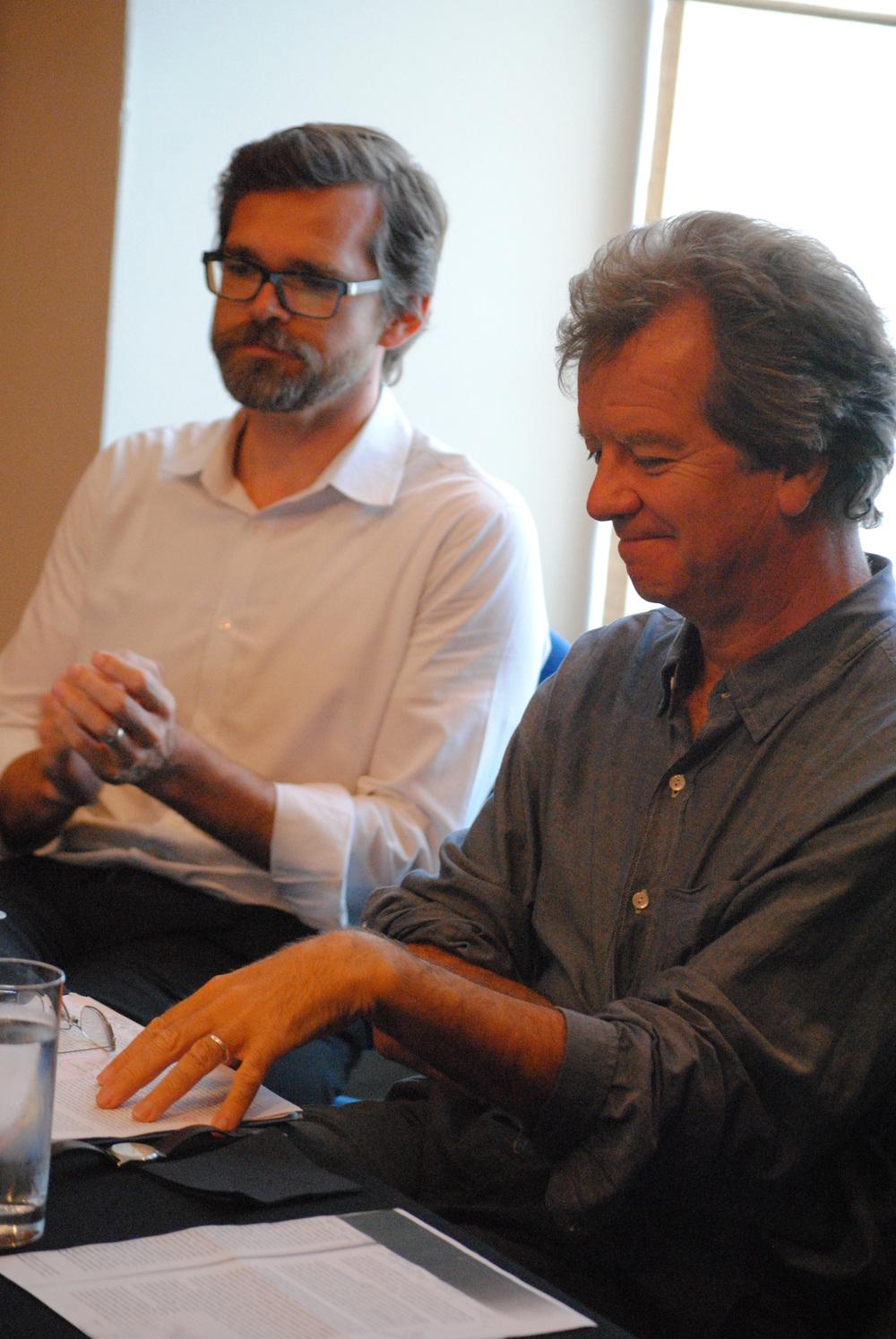 James Taylor and Dr. Richard Kearney