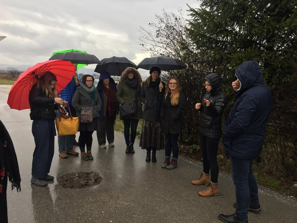 Rain couldn't stop us from all our walking lectures or city-exploring!