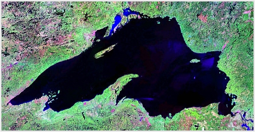 Satelite image of Lake Superior