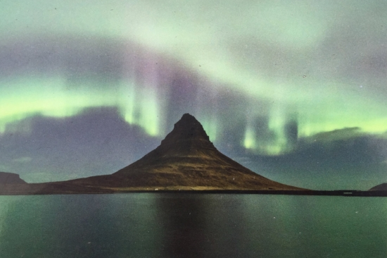 "This is the image I put on facebook that inadvertently punked a bunch of friends. It was a poster on the side of our tour bus. I wrote ""Saw the northern lights last night. It looked nothing like this. Much more subtle."" And way too many people wrote Wow! in the comments. Sorry kids.  :-/"