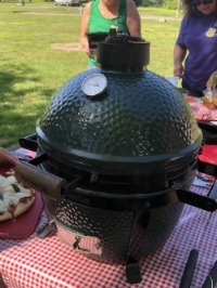 The Big Green Egg. A most excellent accessory! And it goes with everything. Who knew?