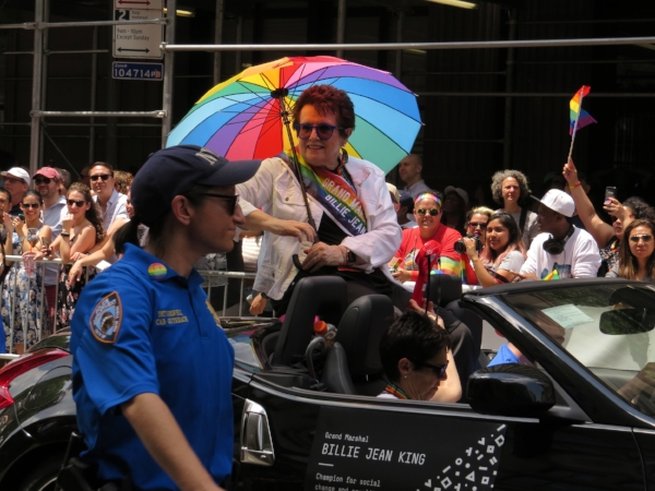 Billie Jean King was one of the Grand Marshals