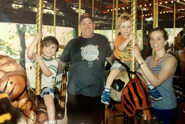 High point of the day and an excellent photo op, a ride on the Bug Carousel.