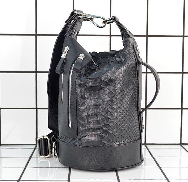 P E T A T E.  M I N I #python #leather #ateliermarchal #marchal #marais #amenparis #mensfashion #mensbags #handbag