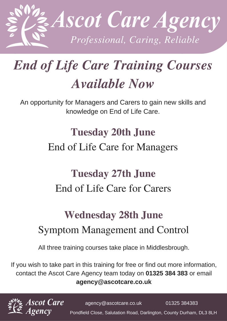d7821052184e End of Life Care Training Courses - Available Now — Ascot Care Agency