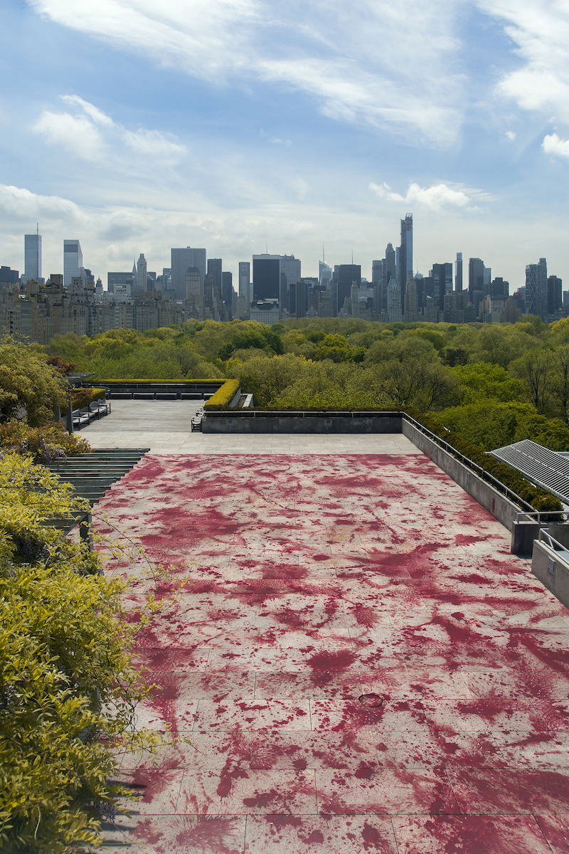"Installation view: ""The Roof Garden Commission: Imran Qureshi"", The Metropolitan Museum of Art, New York, 2013. Photo: The Metropolitan Museum of Art - Hyla Skopitz"