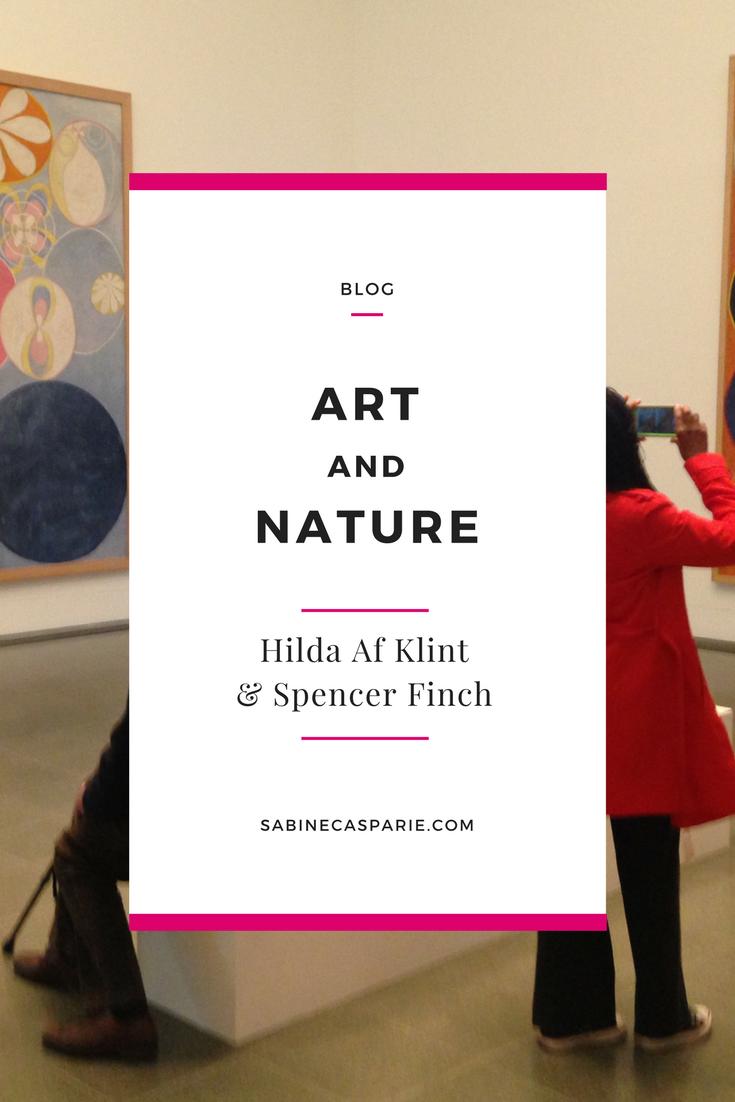 Art and Nature: Hilda Af Klint and Spencer Finch