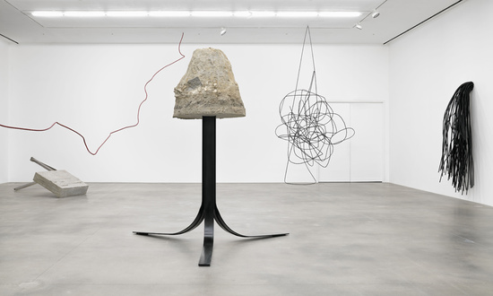 Monika Sosnowska,  H   and   Concrete , with (left)  Rebar 20  and (right)  Rebar 12 , all 2017