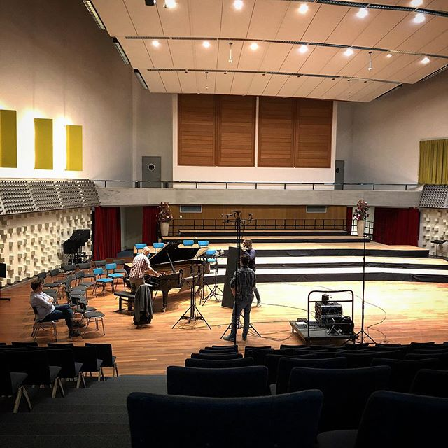 Home away from home, this weekend with @niek_violin . . . #recordingstudio #beethoven #mozart @avrotrosklassiek @nporadio4 #hilversum