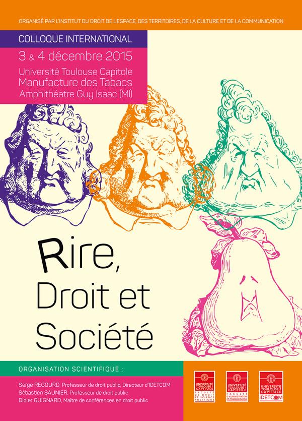 """Colloque international du 3 et 4 décembre 2015 """"Rire, Droit et Société"""""""