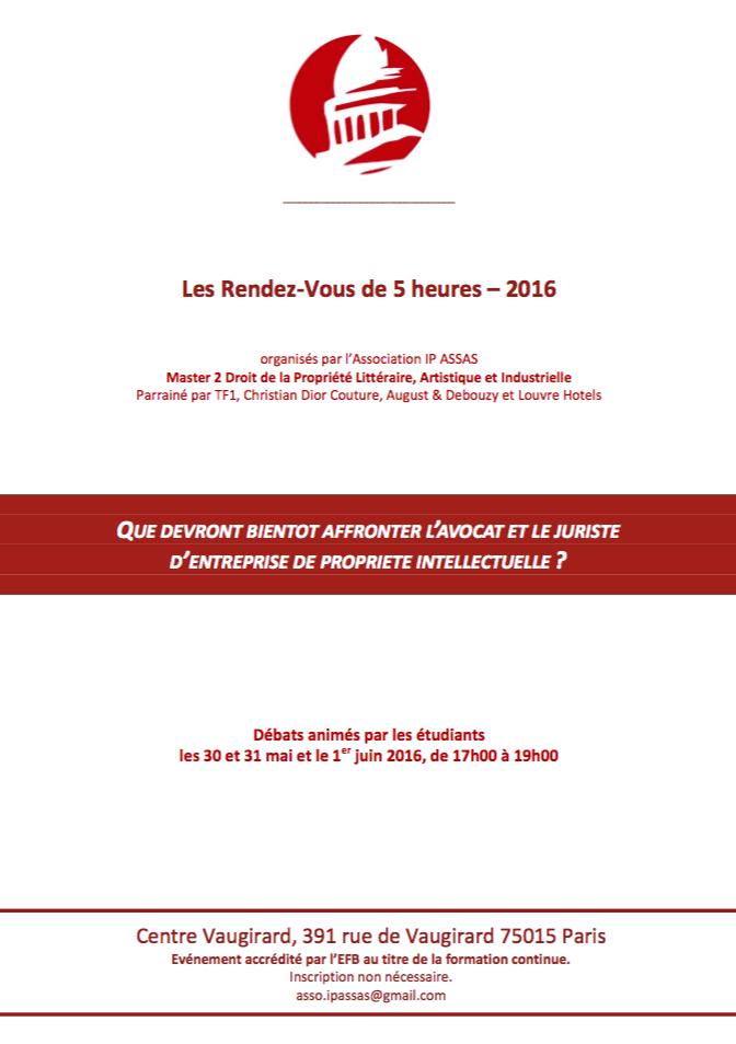 Télécharger le programme complet des Rendez-Vous de 5 heures en cliquant sur l'image ci-dessus (pdf)