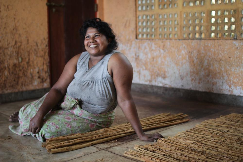 Cinnamon peeler, Sri Lanka. Photo by Claire Cheney
