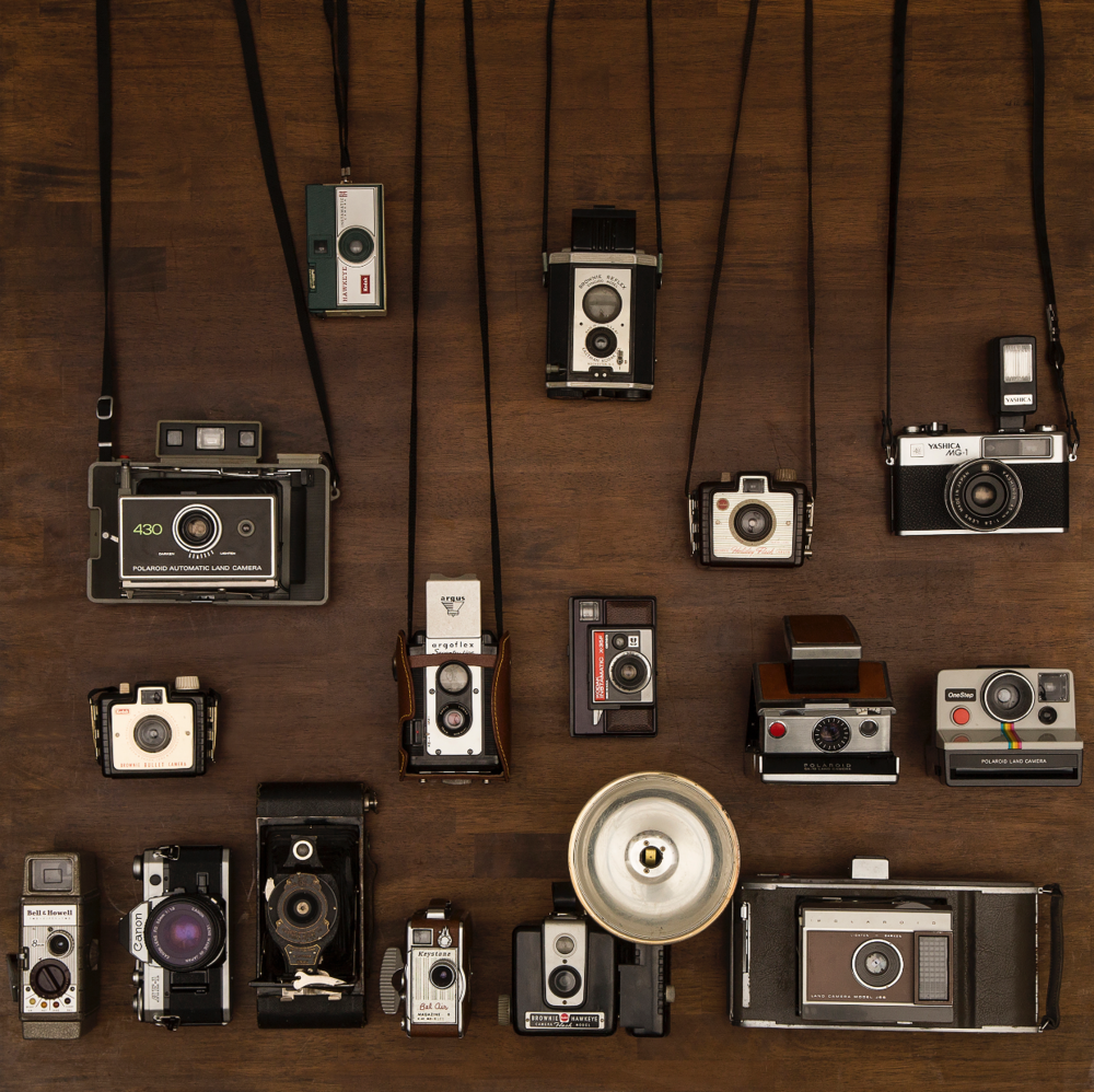 My collection of vintage cameras.